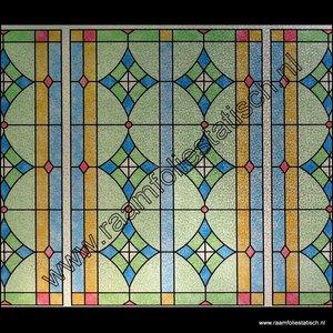 Raamfolie ge 4603 glas in lood linea fix statisch hechtend raamfoliestatisch for Verwijderbaar glas